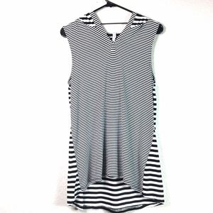 Cable & Gauge M Striped Sleeveless Stretch Hoodie